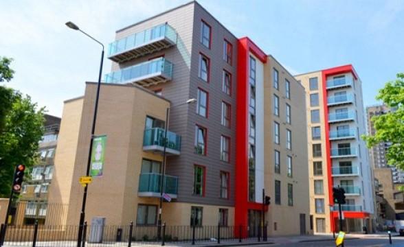 Caxton Apartments and Garamond Building, E1